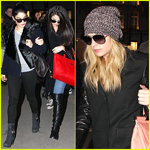 Vanessa Hudgens & Selena Gomez: 'Spring Breakers' Paris Dinner!