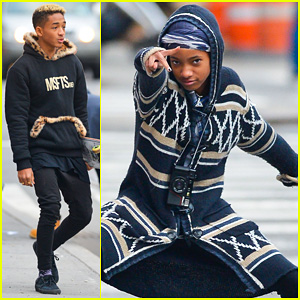 Willow & Jaden Smith: Video Shoot in New York!