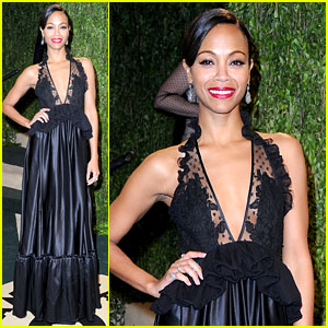 Zoe Saldana - Vanity Fair Oscars Party 2013