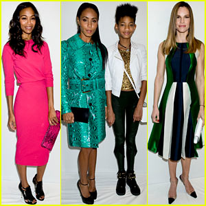 Zoe Saldana, Willow, & Jada Pinkett-Smith: Michael Kors Show!