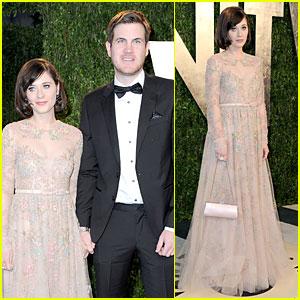 Zooey Deschanel & Jamie Linden - Vanity Fair Oscars Party 2013