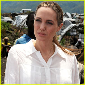 Angelina Jolie Visits Rescue Camp for Women
