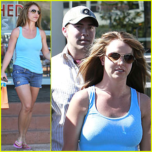 Britney Spears: Tanning with David Lucado!