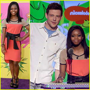 Cory Monteith & Gabby Douglas - Kids' Choice Awards 2013