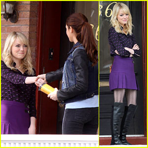 Emma Stone & Shailene Woodley: Mary-Jane & Gwen Meet!