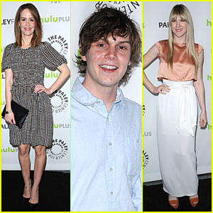 Evan Peters & Sarah Paulson: PaleyFest with 'American Horror Story' Cast