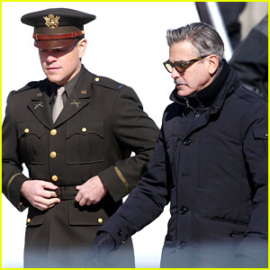 George Clooney: 'Monuments Men' Set with Matt Damon!