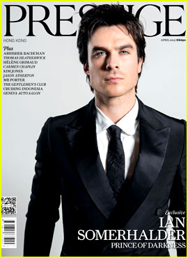 Ian Somerhalder Covers 'Prestige Hong Kong' April 2013