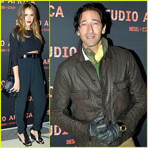 Jessica Alba & Adrien Brody: Diesel Fashion Show!