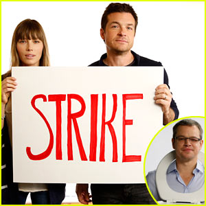 Jessica Biel & Jason Bateman Join Matt Damon's Toilet Strike