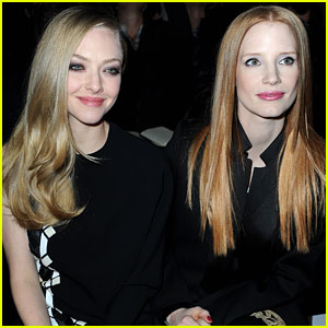 Jessica Chastain & Amanda Seyfried: Givenchy Paris Fashion Show