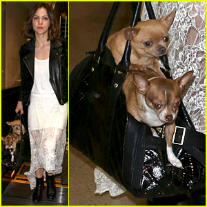 Katharine McPhee: Double Puppy Purse at Airport!