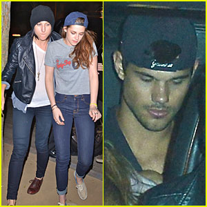 Kristen Stewart & Taylor Lautner: Troubadour Night Outing!