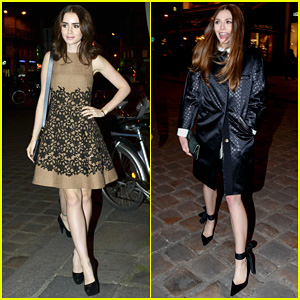 Lily Collins & Elizabeth Olsen: Louis Vuitton Cocktail Party!
