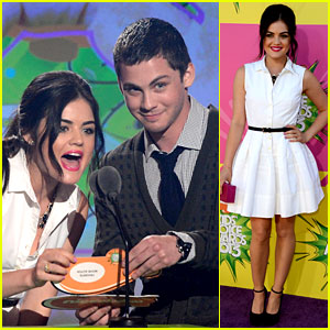 Lucy Hale & Logan Lerman - Kids' Choice Awards 2013