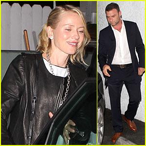 Naomi Watts & Liev Schreiber: Giorgio Baldi Dinner Date!