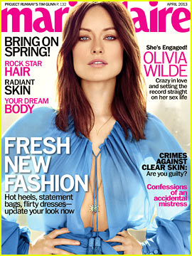 Olivia Wilde Covers 'Marie Claire' April 2013