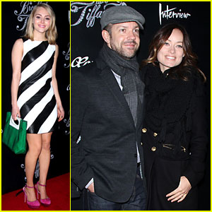 Olivia Wilde & Jason Sudeikis: 'Breakfast at Tiffany's' Opening!