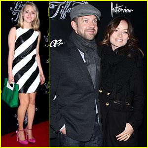 Olivia Wilde & Jason Sudeikis: 'Breakfast at Tiffany's' Opening!