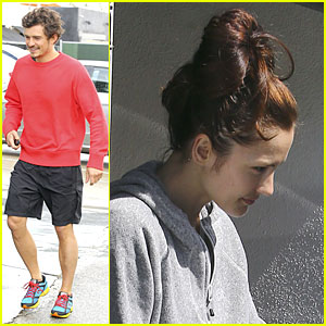 Orlando Bloom & Minka Kelly: Private Workout Session!
