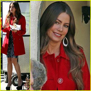 Sofia Vergara: 'Modern Family' Season Finale Filming!