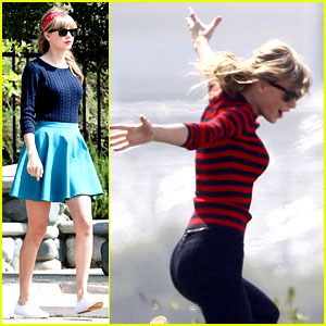 Taylor Swift: Trampoline Jumper at Photo Shoot!