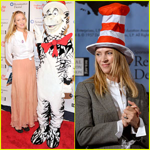 Uma Thurman: 'Cat in the Hat' for Read Across America Day!