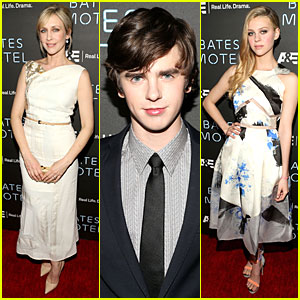 Vera Farmiga & Freddie Highmore: 'Bates Motel' Premiere Party with Nicola Peltz!