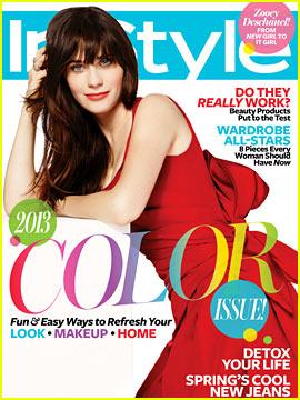Zooey Deschanel Covers Instyle April 2013 Magazine Zooey Deschanel Just Jared