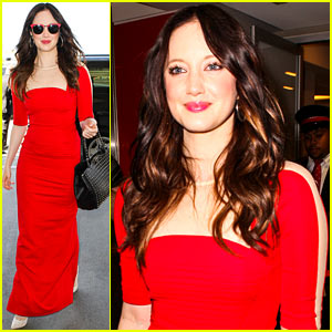 Andrea Riseborough: Fancy Dress at LAX!