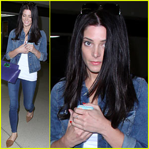 Ashley Greene Arrives at LAX After Tragic Condo Fire