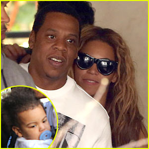 Beyonce & Jay-Z: Parisian Lunch with Blue Ivy Carter!