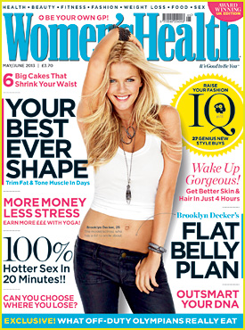Brooklyn Decker Covers 'Women's Health UK' May/June 2013