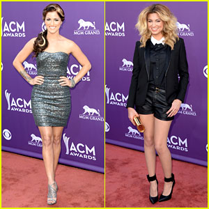 Cassadee Pope & Tori Kelly - ACM Awards 2013 Red Carpet