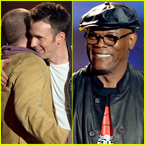 Chris Evans & Samuel L. Jackson - MTV Movie Awards 2013