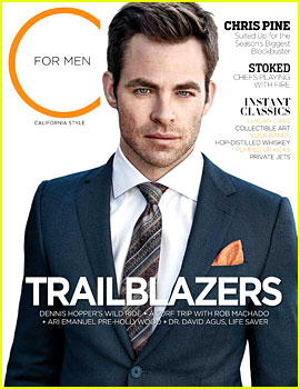 Chris Pine Covers 'C For Men' Magazine Spring 2013