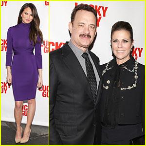 Chrissy Teigen & Tom Hanks: 'Lucky Guy' Broadway Opening Night!