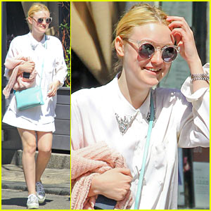 Dakota Fanning: Springtime Smiles in Soho!
