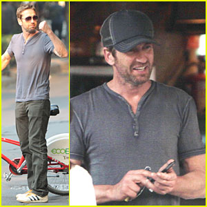 Gerard Butler: Biking Riding in Mexico!
