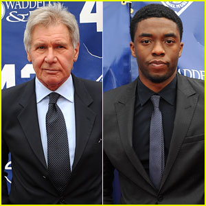 Harrison Ford & Chadwick Boseman: '42' Screening!