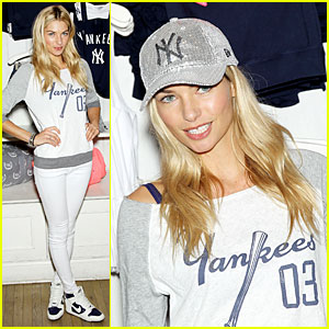 Jessica Hart: Yankees Opening Day & Pink MLB Collection Celebration!