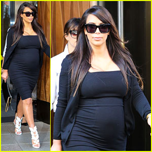 Kim Kardashian: Pregnant Baby Bumpin' in the Big Apple!