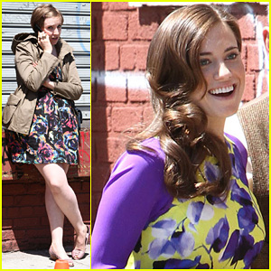 Lena Dunham & Allison Williams: Fun on 'Girls' Set!