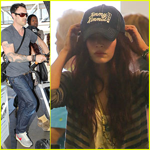 Megan Fox & Brian Austin Green: LAX Departure with Noah!