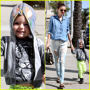 Miranda Kerr & Flynn 'Romp' Around at Kids Gym