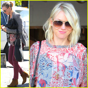 Naomi Watts: Golden Blonde After Hair Appointment!