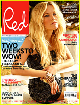 Reese Witherspoon Covers 'Red' Magazine June 2013