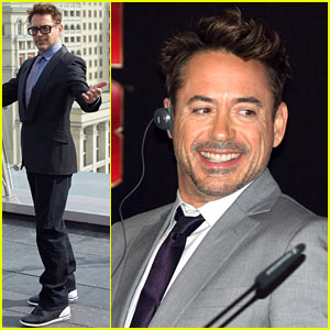 Robert Downey, Jr.: 'Iron Man 3' Photo Call & Conference in Moscow!