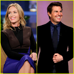 Tom Cruise & Emily Blunt: 'Jay Leno' Appearances!
