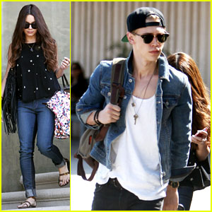 Vanessa Hudgens & Austin Butler Take Flight in Burbank